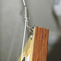 LEDパネルGSウッド調フレーム壁掛けフック3