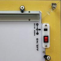 LEDパネルGSウッド調フレーム壁掛けフック1